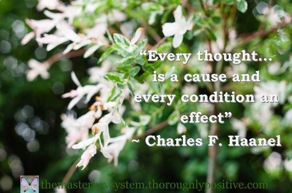 """Every thought... is a cause and every condition an effect"" ~ Charles F. Haanel picture of a tree"