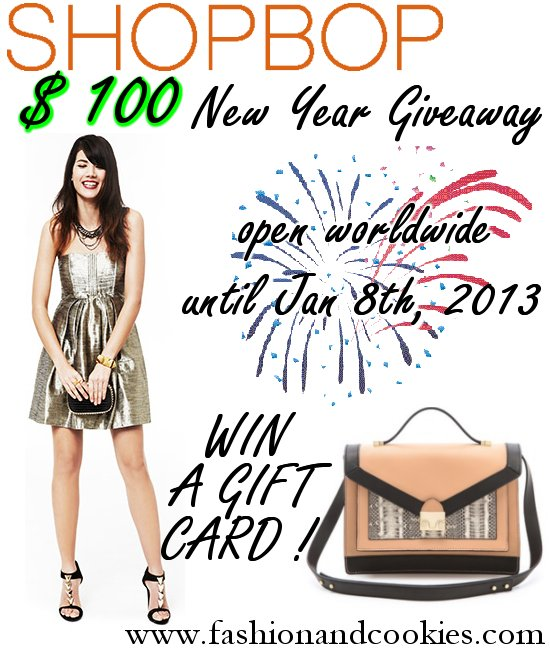 Shopbop $100 Giveaway on Fashion and Cookies