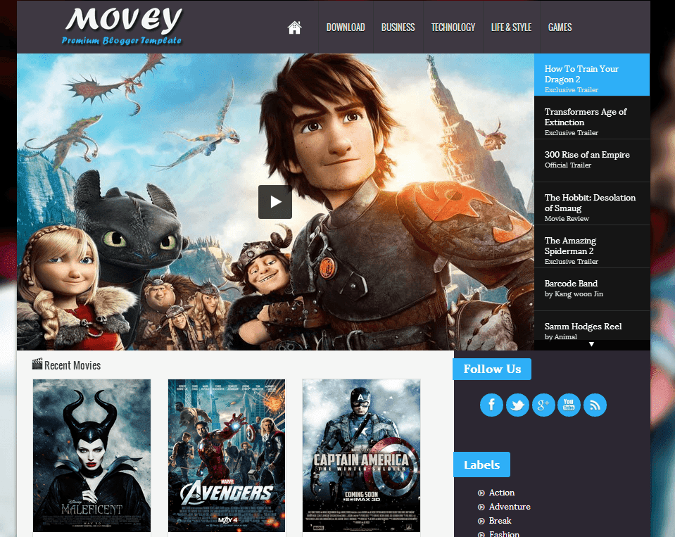 Movey Blogger Template Image