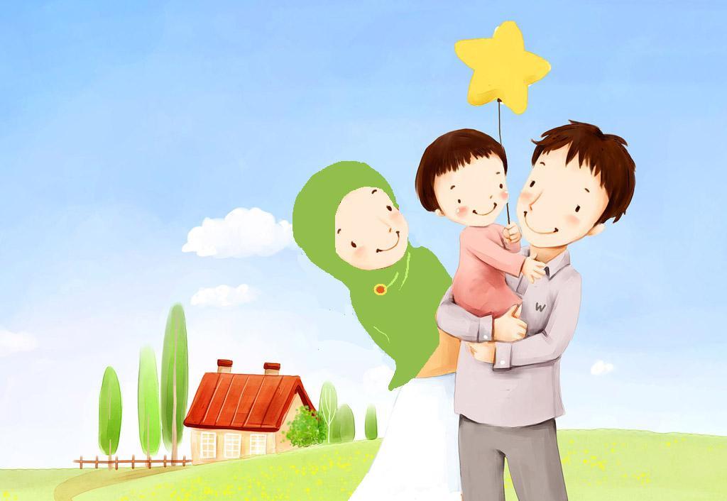 Gambar Animasi Kartun Islami Lucu