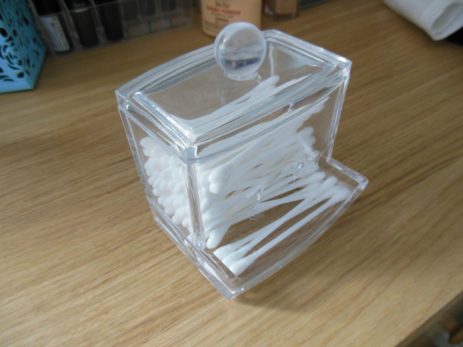 Cotton Bud Holder Glass