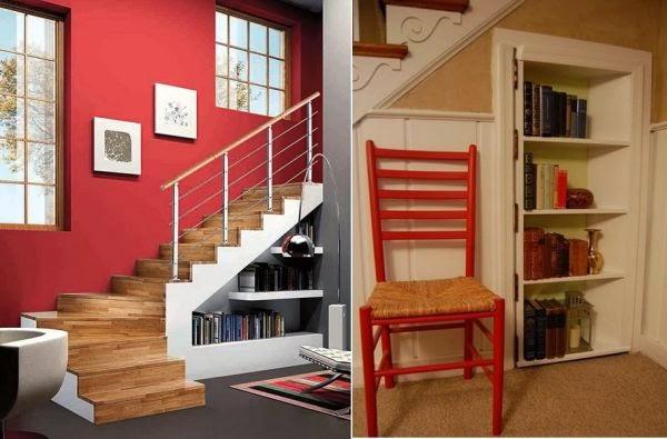 ideas para utilizar el espacio debajo de las escaleras