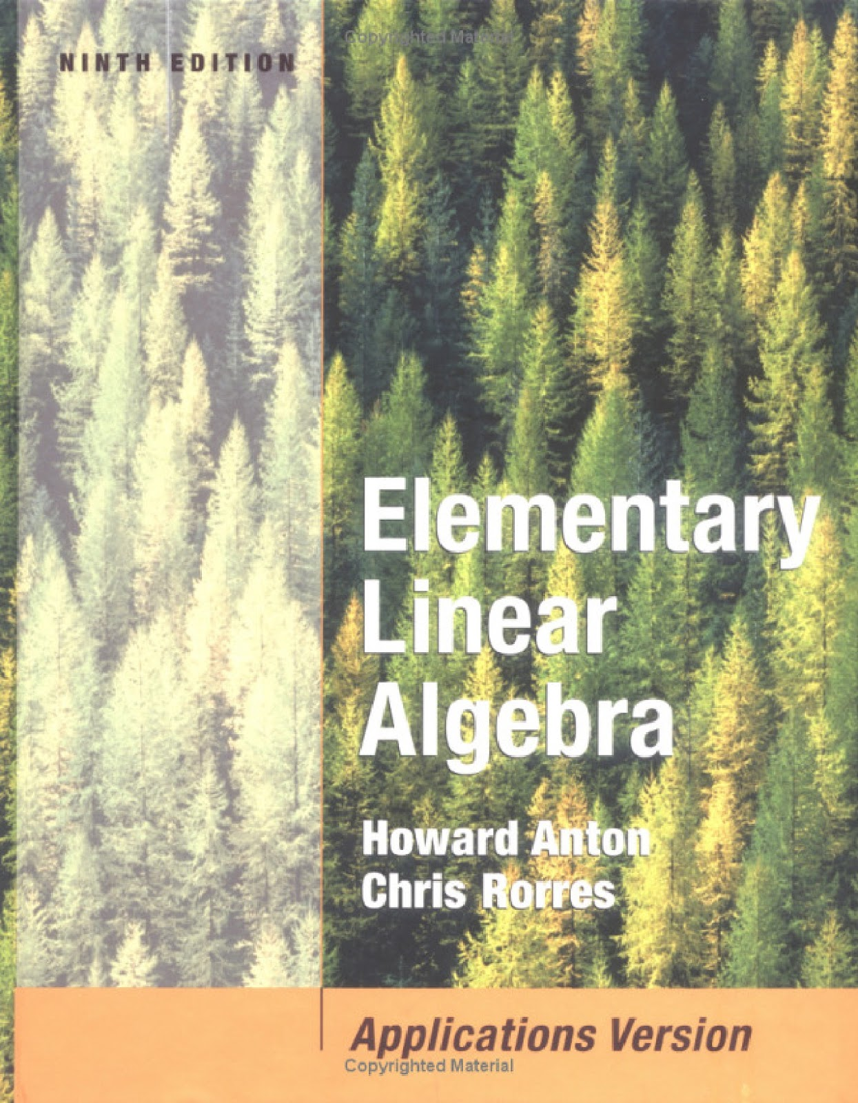 ... Algebra wih Application 9th Edition by Howard Anton, Chris Rorres
