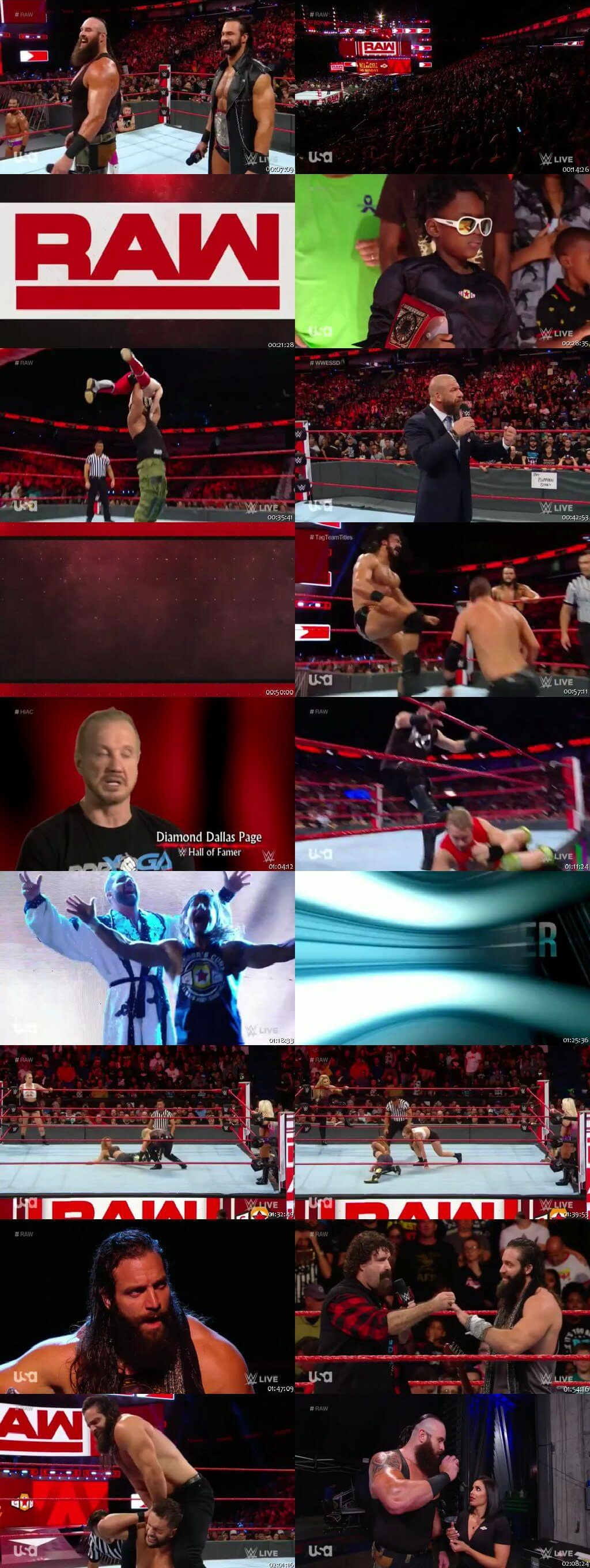 Screen Shot Of Wrestling TV Show WWE Monday Night Raw 10th September Watch Online Free Download
