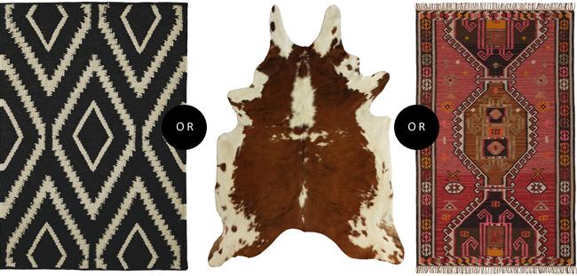 project condo choosing a rug