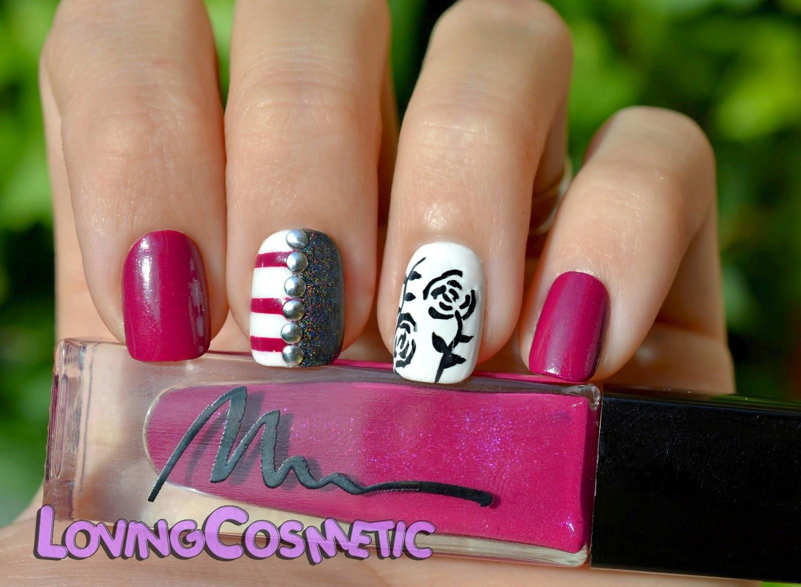 Nail Nails art diseño uñas black roses acrylic marionnaud esmaltes color club