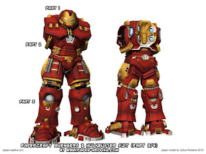 Parts 1-3 of Paper-Replika's Hulkbuster; check back for the 4th and final part!