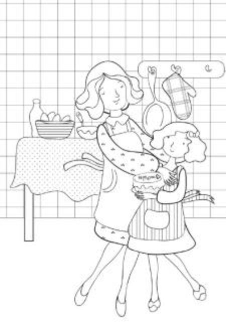 Mothers Day Card Coloring Pages