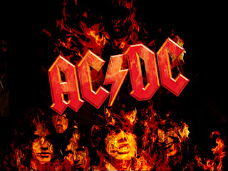 AC DC Band Flaming Logo HD Wallpaper