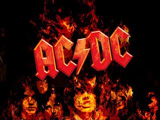 AC DC Band Flaming Logo HD Wallpaper