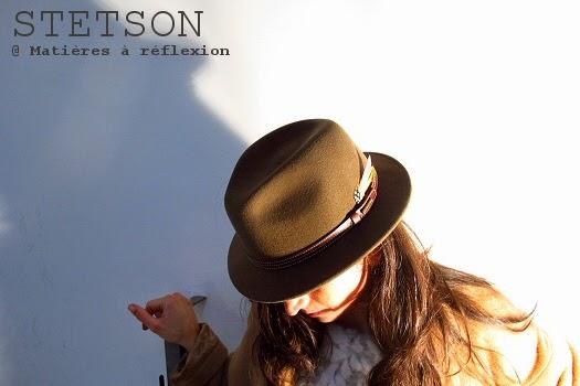 Chapeau femme taupe Stetson en feutre de laine