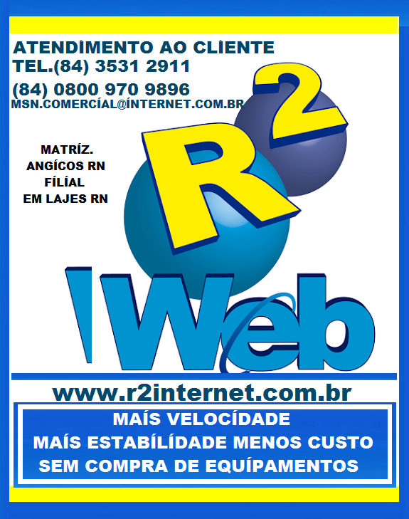 R2 WEB MAIS VELOCIDADE LAJES RN