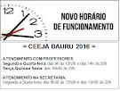 CEEJA COM NOVOS HORÁRIOS DE ATENDIMENTO.