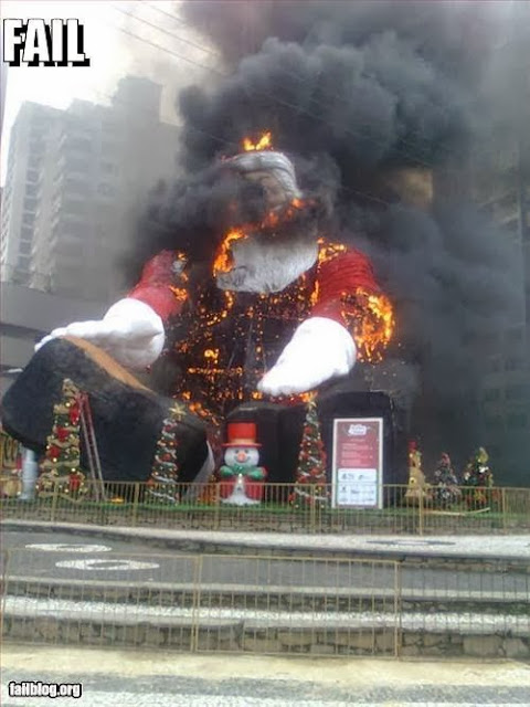 Burning Santa Inflatable