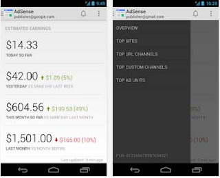 Android app to know adsense earning on the go