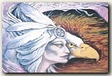 "A portion of ""Eagle Woman"", a painting by Tree Pruitt."