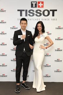 天梭表香港旗艦店開幕  黃曉明與韓星李成敏幸福演繹情侶腕錶
