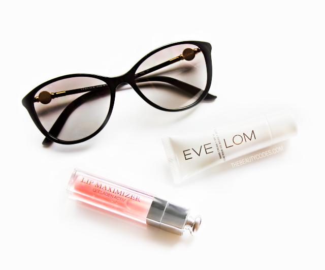 Versace sunglasses Eve Lom handcream
