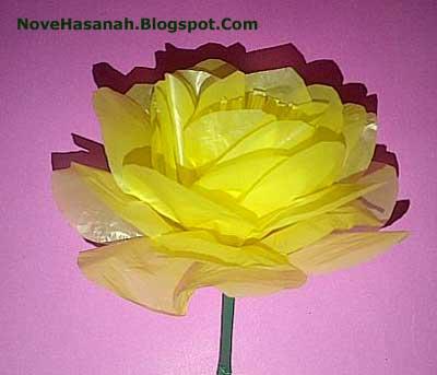 cara membuat bunga zinnia dari kantong plastik bekas