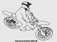 Gambar Mewarnai Lomba Motor Cross