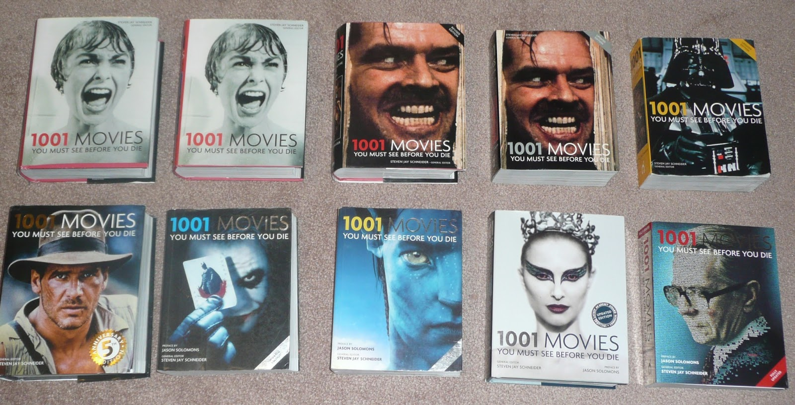 Created a Books section on the 1,001 Movies wiki to present this  information.