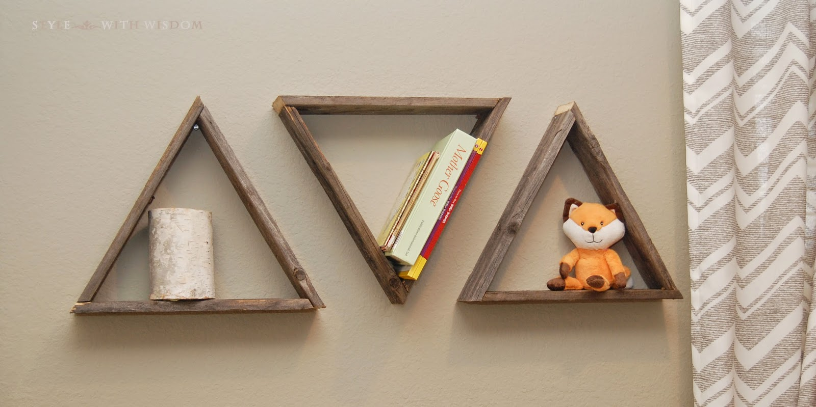 Woodland Nursery triangle shelves