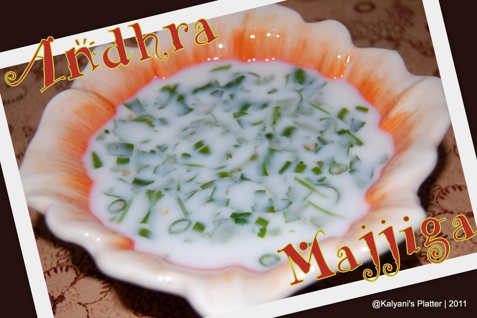 Spicy Buttermilk | Andhra Majjiga | Kalyani\'s Platter