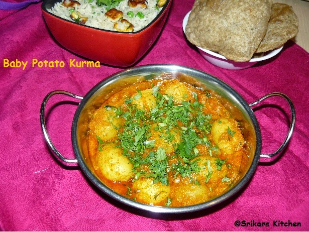 BABY POTATO KURMA- SMALL POTATO MASALA