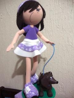 Fofuchas - Fofucha con perro