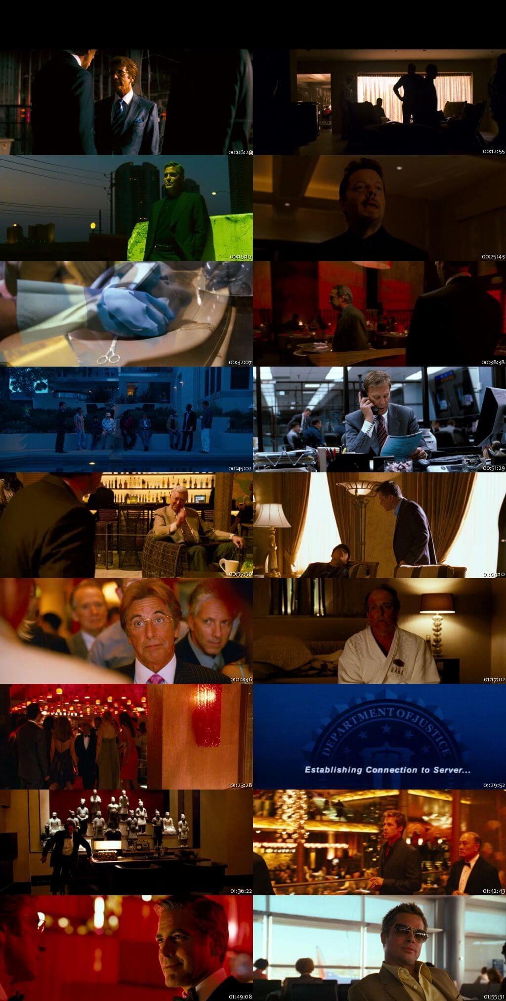 Screen Shot Of Ocean's Thirteen 2007 In Hindi English Dual Audio Bluray