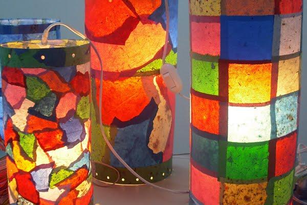 luminária papel artesanal