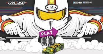 aprende a programar con Code Racer - www.dominioblogger.com