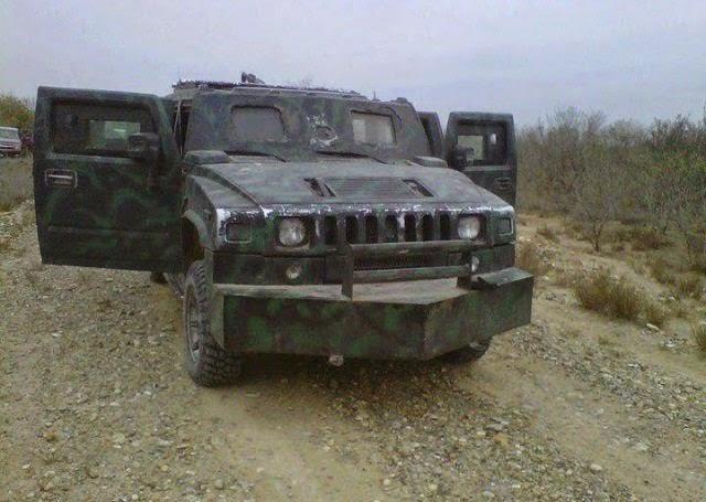 militar asi como chalecos antibalas también en las fotos del golfo