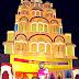 बर्शी-योगेश क्रिडा व सांस्कृतिक मंडळाच्यावतीने अक्षय धाम येथिल सोमनाथ मंदिर राधा कृष्ण लिला हा देखावा सादर केला.