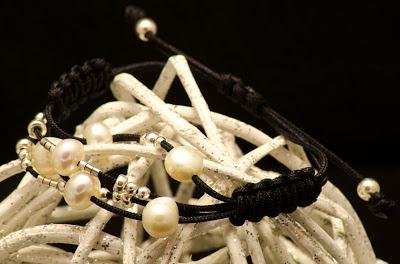 Pulsera plata perla personalizada artesanal. Joyeria en Plata