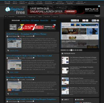 Blogpress Blogger Template