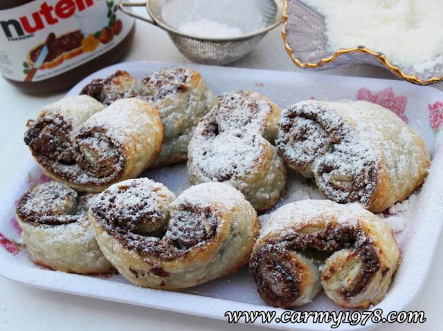 prussiane con nutella e cocco