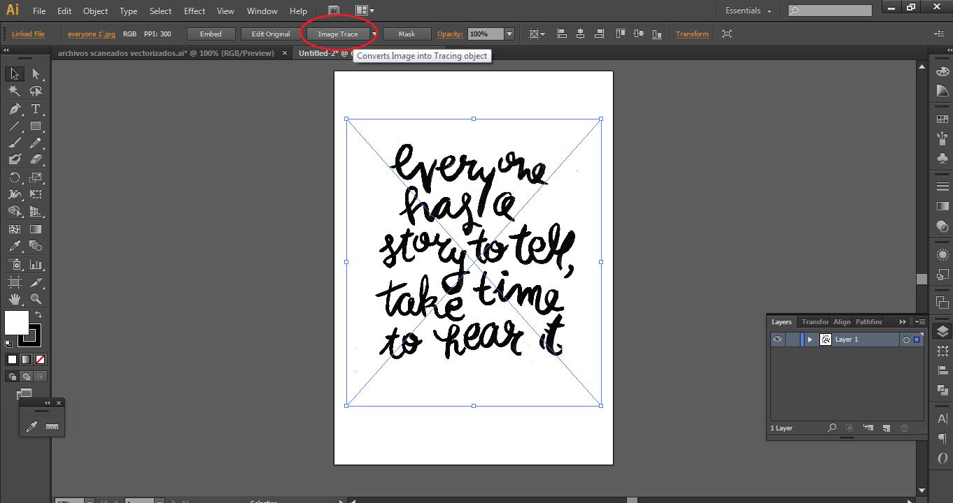 Como vectorizar en adobe illustrator