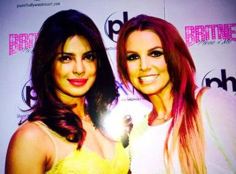 Priyanka Chopra, Britney Spears, Piggy Chops, @britneyspears, @priyankachopra, I Can't Cause you to Love Me, E Report, Celebrity Style, Style Strip, Bollywood,