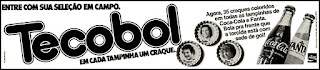 propaganda  Tecobol - Coca Cola e Fanta - 1978; Coca Cola; Fanta;  os anos 70; propaganda na década de 70; Brazil in the 70s, história anos 70; Oswaldo Hernandez;