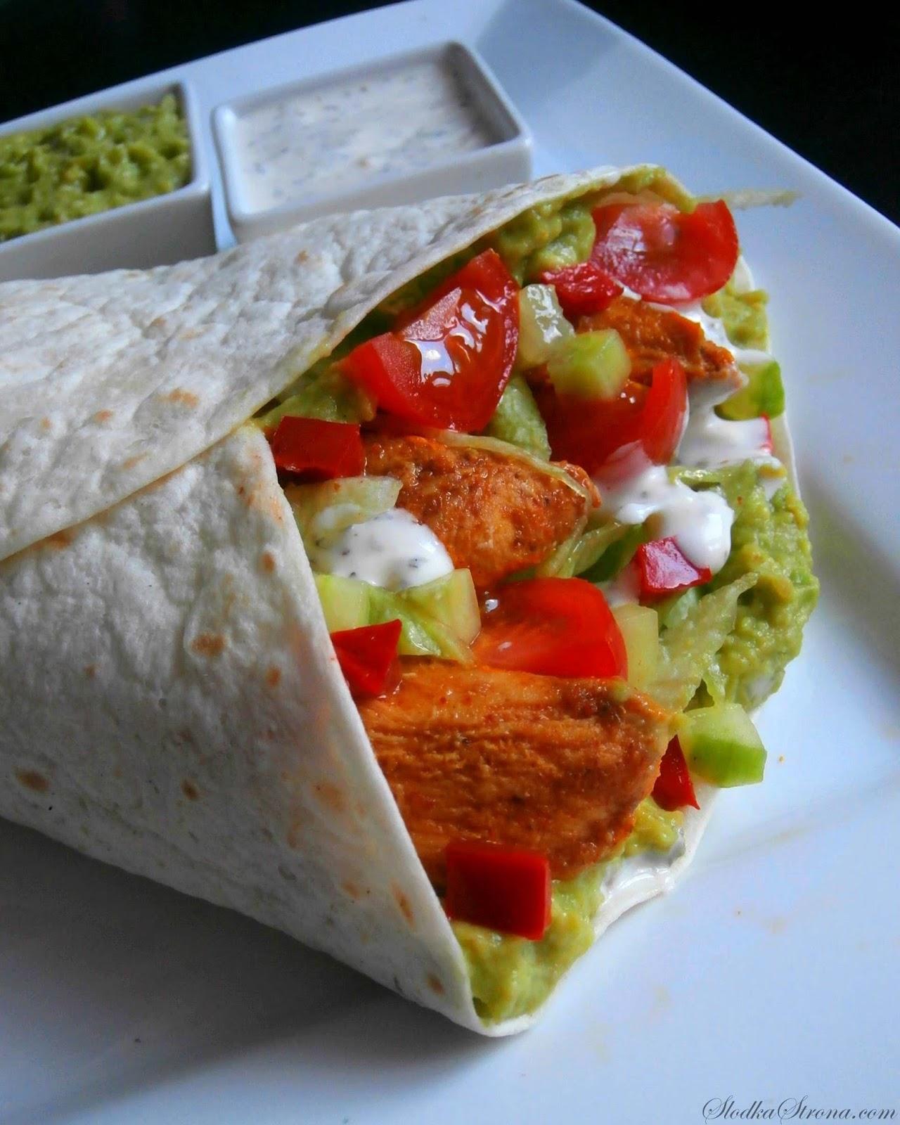 Tortilla z Kurczakiem i Guacamole - Przepis - Słodka Strona