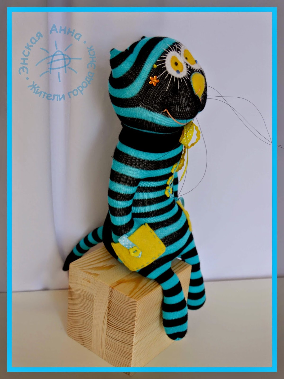 игрушка из носка. Кот