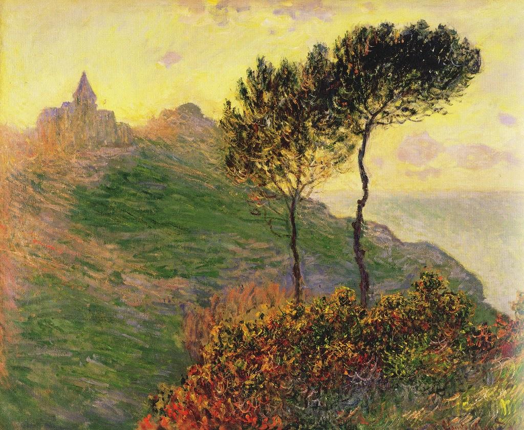 L'église de Varengeville à contre-jour (Claude Monet, 1882)