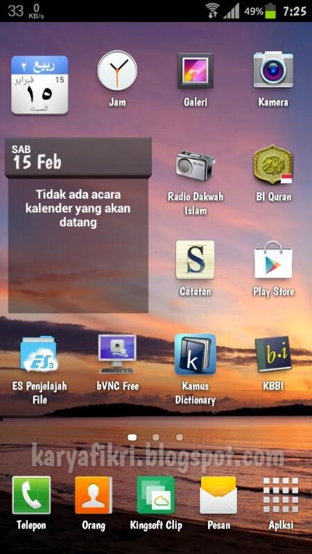 beranda perangkat android admin karyafikri.blogspot.com