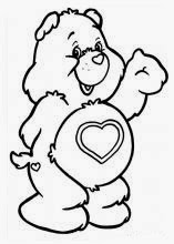 Ursinho Carinhoso - Fofinho - Desenhos para colorir
