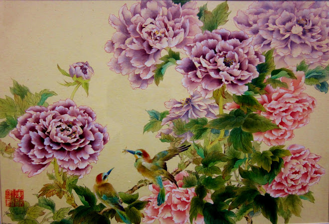 Peonies and Birds, Currier Museum Prize Winner