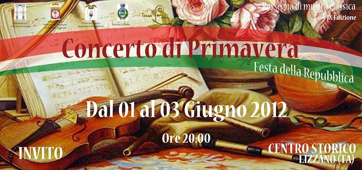 Concerto di Primavera 2012. Lizzano