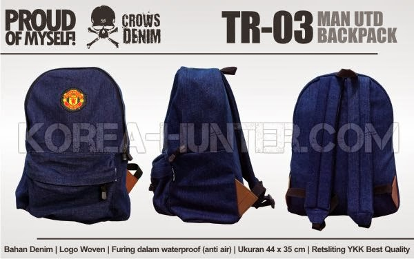 KOREA-HUNTER.com jual murah Manchester United Backpack | kaos crows zero tfoa | kemeja national geographic | tas denim korean style blazer
