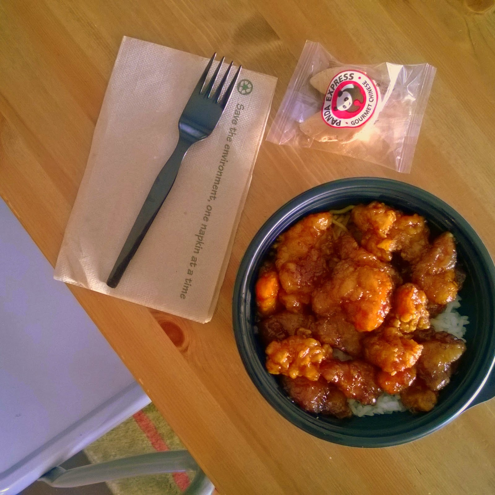 Panda Express orange chicken bowl