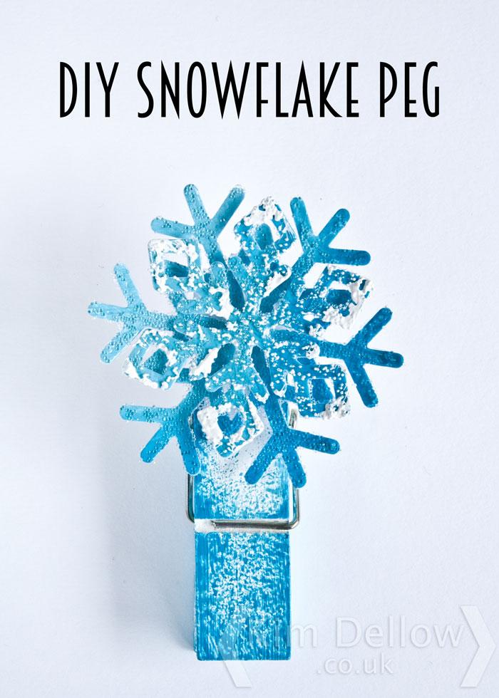 DIY Snowflake peg